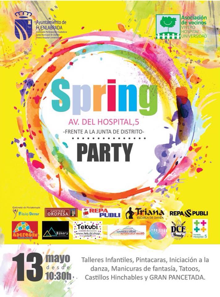 cartel Spring Party Fuenlabrada