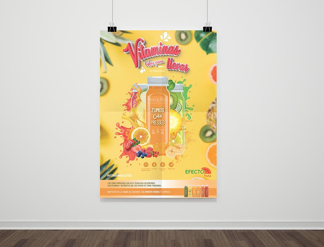 Campaña zumos Efecto Fruta